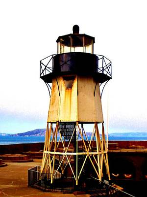 Presidio Lighthouse Art Print by Sharon Costa