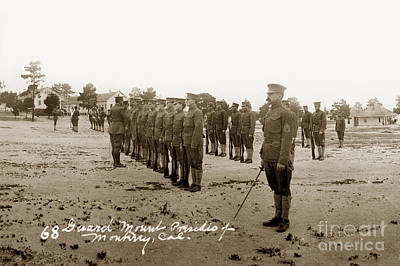 Photograph - Presidio Of Monterey Rifle Inspection Circa 1915 by California Views Mr Pat Hathaway Archives
