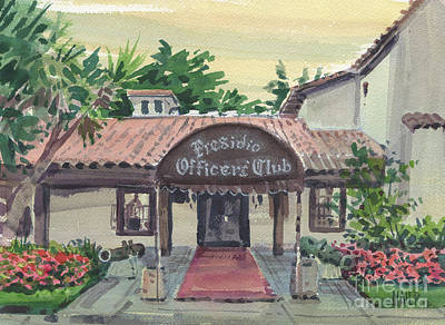 Presidio Officers' Club Art Print by Donald Maier
