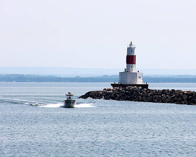 Photograph - Presque Isle Harbor Breakwater Lighthouse by George Jones