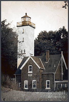 Photograph - Presque Isle Lighthouse 1872 by John Stephens