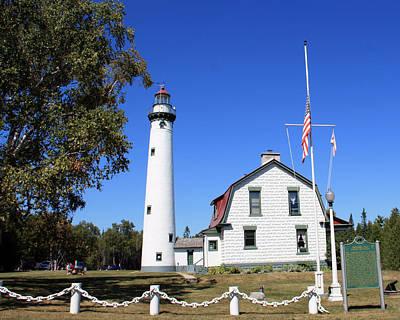Photograph - Presque Isle Lighthouse New by George Jones