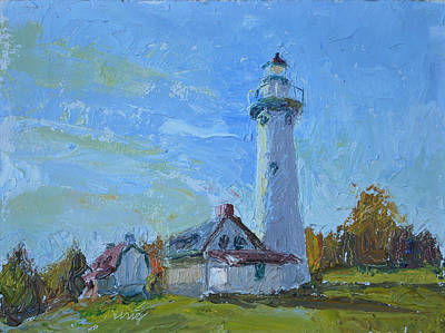 Presque Isle Lightstation Art Print by Daryl Urig