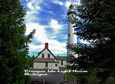 Photograph - Presque Isles Light House by Gary Wonning