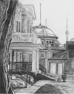 Drawing - Press Building by Duane Gordon