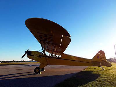 Airplane Photograph - Preston Aviation Piper Cub 002 by Chris Mercer