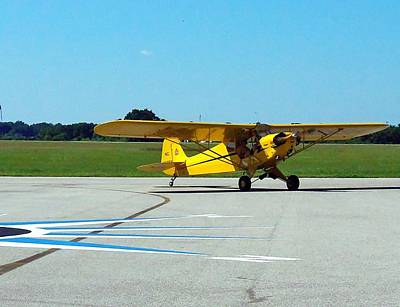 Preston Aviation Piper Cub  Art Print by Chris Mercer