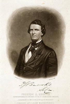 Democrat Painting - Preston Smith Brooks (1819-1857) by Granger