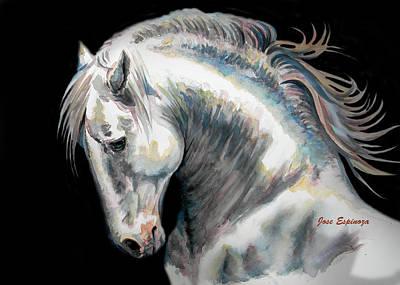 Caballo Painting - Presumtuous by J- J- Espinoza