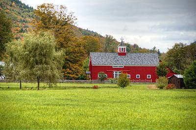 Prettiest Barn In Vermont Art Print