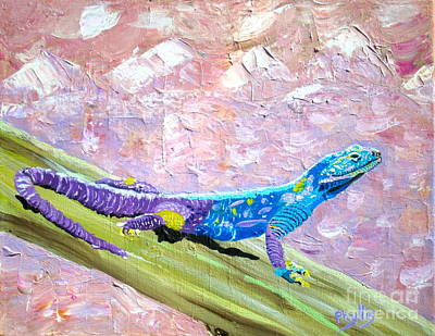 Painting - Pretty African Lizard by Phyllis Kaltenbach