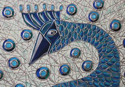 Art Print featuring the painting Pretty As A Peacock 2 by Cynthia Snyder