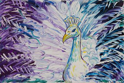 Pretty As A Peacock Art Print by Jessica Keith