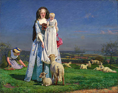 Pretty Baa-lambs Art Print by Ford Madox Brown