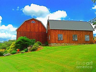 Photograph - Pretty Barn And Arch Window by Becky Lupe