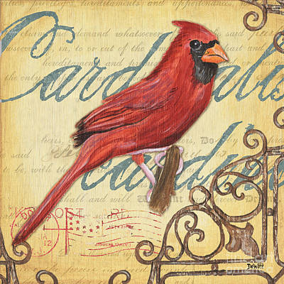 Cardinal Painting - Pretty Bird 1 by Debbie DeWitt