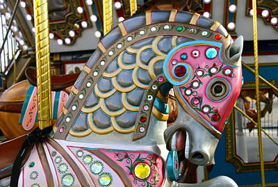 Photograph - Pretty Carnival Horse Close Up by Denise Mazzocco