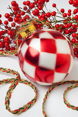 Photograph - Pretty Christmas Ornament by Garry Gay