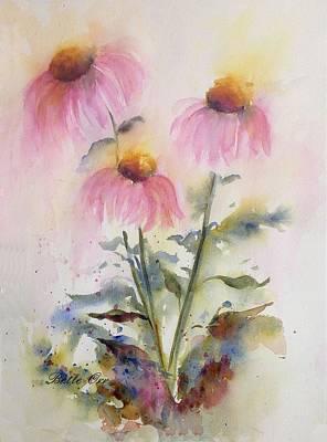 Pretty Coneflowers Art Print by Bette Orr