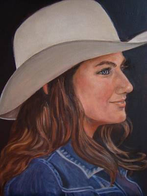 Pretty Cowgirl Painting - Pretty Cowgirl by Terry Sita
