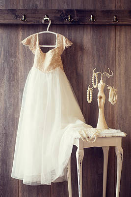 Coat Hanger Photograph - Pretty Dress by Amanda Elwell
