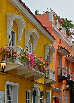 Photograph - Pretty Dwellings In Old-town Cartagena by Kirsten Giving