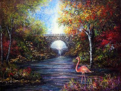 Flamingo Painting - Pretty Flamingo by Ann Marie Bone