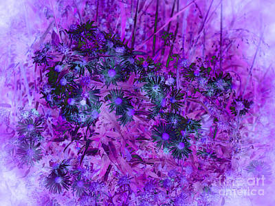 Thomas Kinkade Rights Managed Images - Pretty Flowers Abstract - Purple Royalty-Free Image by Adri Turner