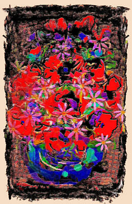 Flower Still Life Mixed Media - Pretty Flowers by Natalie Holland