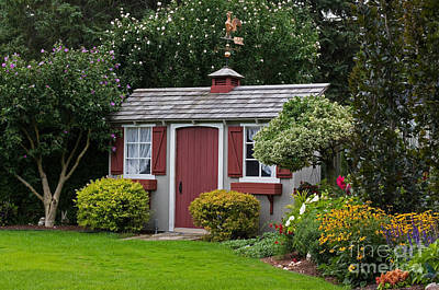 Photograph - Pretty Garden Shed by Barbara McMahon