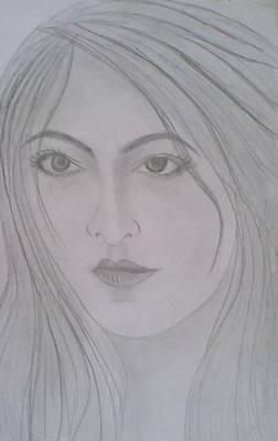 Syeda Ishrat Drawing - Pretty Girl by Syeda Ishrat
