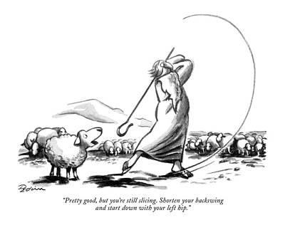 Shepherds Drawing - Pretty Good by Eldon Dedini
