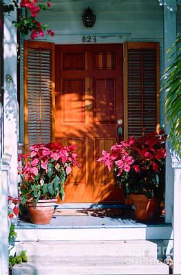 Florida Flowers Photograph - Pretty House Door In Key West by Susanne Van Hulst