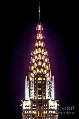 Chrysler Building Photograph - Purple Haze by Az Jackson