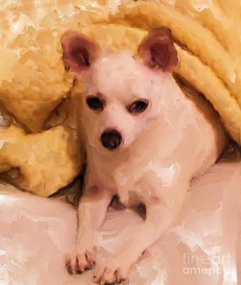 Digital Art - Pretty In Yellow by Ruby Cross