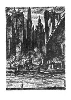 Buildings Drawing - Pretty, - Isn't It? by Reginald Marsh