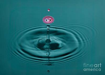 Action Photograph - Pretty Liquid Pink Hat by Susan Candelario
