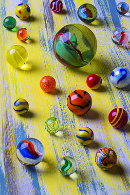 Pretty Marbles Art Print by Garry Gay