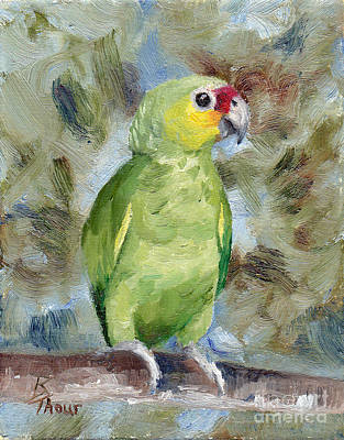 Painting - Pretty Parrot by Brenda Thour
