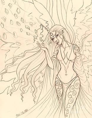 Pretty Pegasus Sketch Art Print by Coriander  Shea