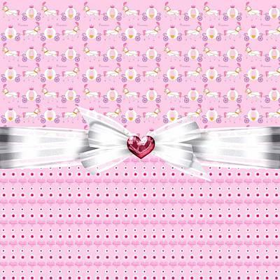 Shower Digital Art - Pretty Pink Princess by Debra  Miller