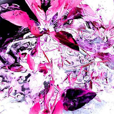 Pretty Pink Weeds 6 Art Print by Marianne Dow