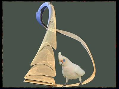 Cockatoo Digital Art - Pretty Polly by Nancy Pauling