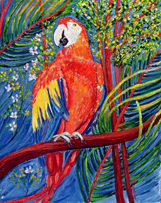 Macaw Painting - Pretty Polly by Patricia Eyre