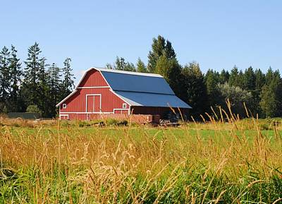 Photograph - Pretty Red Barn In Washington by Connie Fox