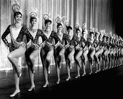 Dance Photograph - Pretty Rockettes In Dance Line At Radio City Music Hall by Retro Images Archive
