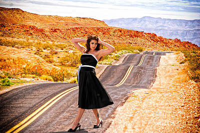 Photograph - Pretty Woman On Bumpy Road by Les Palenik