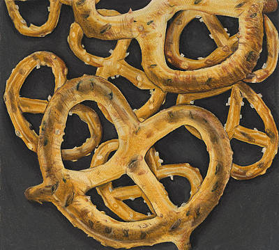 Drawing - Pretzels Study by Jennifer Hotai