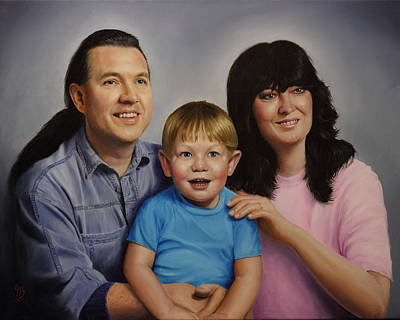 Painting - Price Family by Glenn Beasley