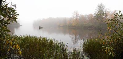Photograph - Price Lake Fog Panorama by Jim Dollar